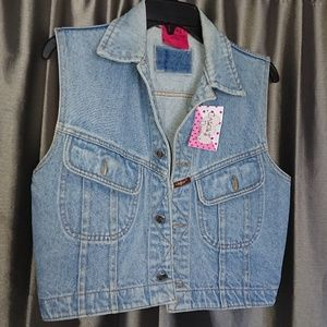New jeans vest women's size S by Carol's Denim's